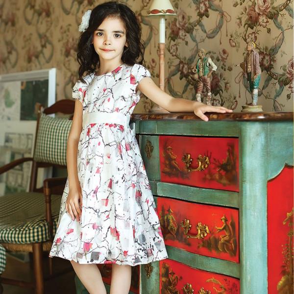 Платье из синтетических волокон на хлопковом подкладе Арт.204-0002