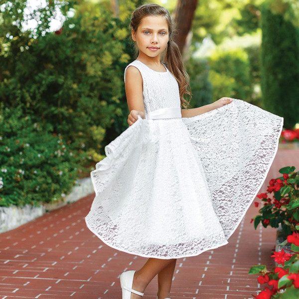 Платье из синтетических волокон на хлопковом подкладе Арт.204-0012