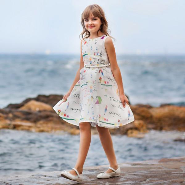Платье из синтетических волокон на хлопковом подкладе Арт.204-0016
